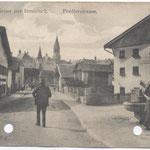 Pradler Straße gegen Süden mit beiden Kirchen 1910