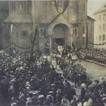 Benediktionsfeier mit Übertragung des Maria-Hilf-Bildes am 27. September 1908