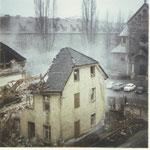 Abriss des alten Pfarrhauses 1972