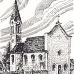 Alte Pradler Kirche 1859