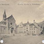 Neue Kirche und Leitgebschule 1910