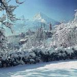 Berchtesgaden mit Watzmann im Winter