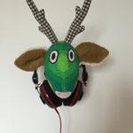 Wandtrophäe Ole als Halter für Kopfhörer - cool!