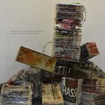 """""""Gegenhalten"""" Installation zum Thema Meinungsfreiheit Haus im Park Emmerich 2016"""