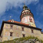 Dies ist nicht Bayern, sondern die St. Veitskirche vom tschechischen Ort Cesky Krumlov, eine gut 1 1/2 stündige Zugfahrt entfernt von der Grenze.