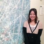 観覧車っていってたっけ? 忘れた。ゴメンナサイ。榎谷杏子さん(日本画)の作品からは華やかさと切なさが同居した印象を受けた