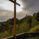 Lichtschein am Kreuz