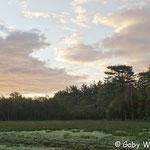 Tolle Wolken- und Lichtspiele am Morgen auf der ersten Paularunde