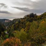 Ausblick auf Burg Rabenstein - diesmal ohne Regen...