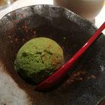 抹茶とシナモンのアイスクリーム