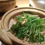 和ハーブティー(緑茶、ハトムギ、ジュウヤク、柿の葉)とハマボウフウの鍋
