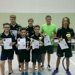Jugend-Vereinsmeister 2014 v.l.n.r.: Fynn Schorsch, Pascal Fricke, Ole Fuhrmann,Pascal Fröhmert, Fynn Wagner, Marius Maiwald u. Nils Stanetzek