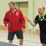 Jens Müller und Timo in Erwartung eines Schlages