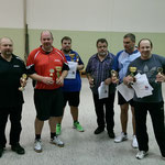 Doppel-Vereinsmeister 2014: Jürgen Thiesies/Jens Fedderke, Thomas Fricke/Thorsten Brecht, Torsten Grube/Adam Kurowski