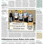 Pressebericht Seniorenmannschaftsmeisterschaft 2014 - TTC Onyx gewinnt Titel