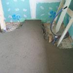 7 cm Heizestrich mit Fußbodenheizung