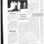 Télégramme - crue 1982
