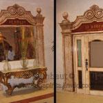 Имитация старинных двери и окна