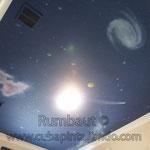 Космическое небо на потолке в комнате