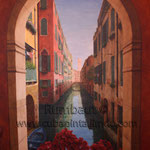 Каналы Венеции в итальянском ресторане