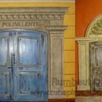 Имитация двери с аркой и колонной в салон