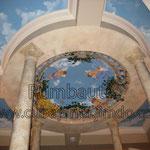 Роспись потолка в бассейне