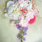 4ピオニー・藤・マム・あじさいの和装髪飾り