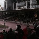 Der Gelbe Fleck im weiten Stadion sind wir!!!