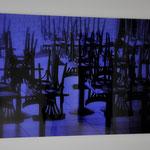 Blaue Stunde, Print auf Plexiglas, abstrakte Fotografie, schwebend