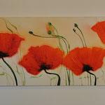 Klatschmohn, rot, 68/180 Acryl auf Leinwand