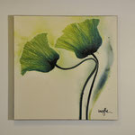 Grüner Mohn, 1000/100, Acryl auf Leinwand