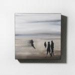 Strandmotiv, Quadrat, 40/40, Öl auf Leinwand