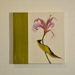Iris, violett, 60/60, Acryl auf Leinwand