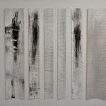 Poetry slam, Pigment auf Karton, schwebend, 160/200