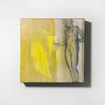 human movement, Quadrat, 40/40, Pigment auf Holz, gewachst