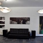 Abstraktion, querformat, braun, schwarz, 60/200