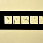Zeichenzyklus, Acryl auf Papier, magnetisch   60/200