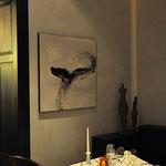 Zenmalerei, Acryl auf Leinen, 70/70