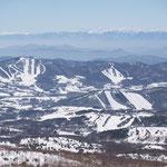 菅平スキー場、大松山スキー場、(北アルプスの山々)