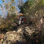 先行する登山者