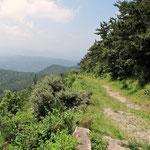 リフト降り場横からの登山道