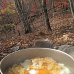 鍋焼きうどん・おでん・ウインナー炒め・シャケおにぎり・・・・・・