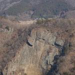 崖上が袋田の滝撮影箇所