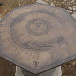 H22年に設置された方位盤