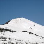 小至仏山をトラバースしている人が小さく見える