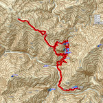 GPSトラックログ(小川谷付近の軌跡がかなり狂っている)