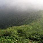 子三瓶山への登りから振り返る