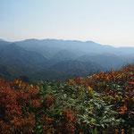 日留賀岳方面