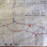 赤線=歩いた大体のコース