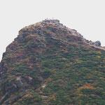 朝日岳への登山者